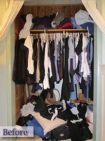 Clothes closet needs organized - professional organizer, Pittsburgh